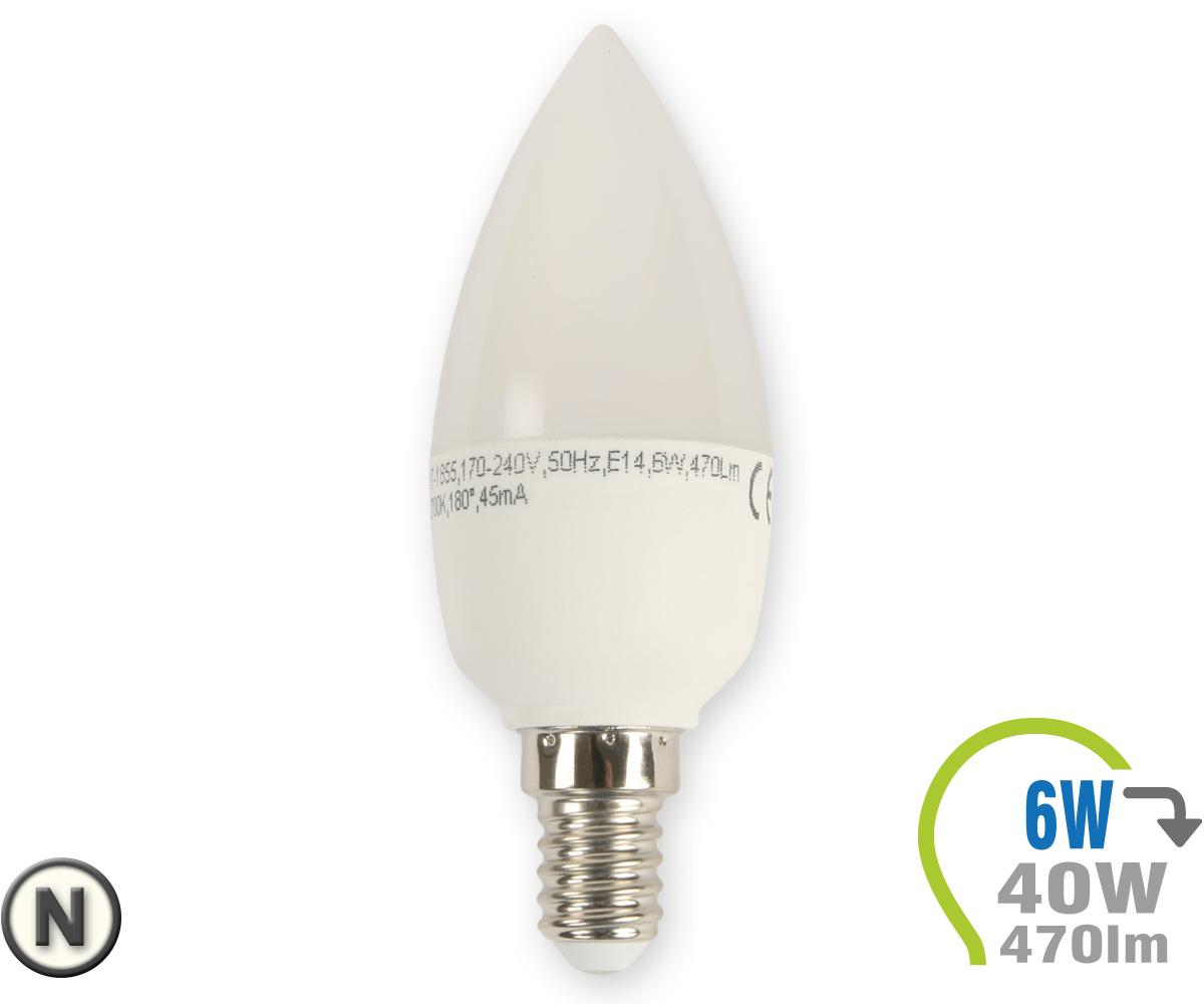 E14 led kerze 6w neutralwei e14 led leuchtmittel for Led lampen leuchten