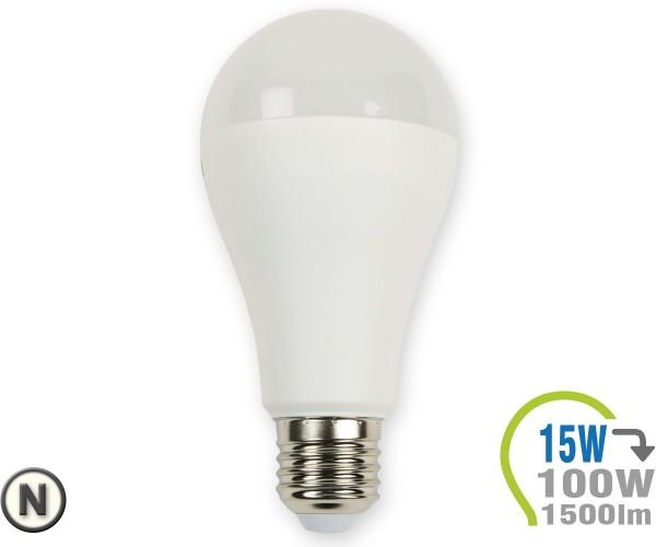 E27 LED Lampe 15W A65 Neutralweiß