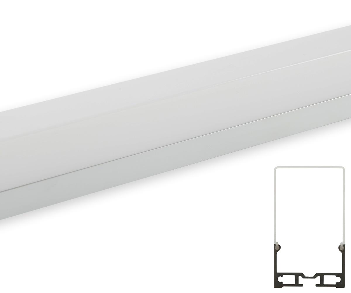 Aluminum profil h ngend mit 2 seilen abdeckung matt for Lampen leuchten shop