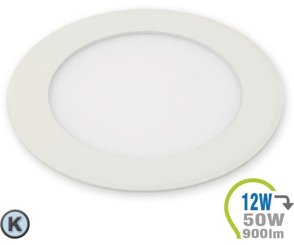 LED Paneel Einbauleuchte Premium Serie 12W Rund Kaltweiß