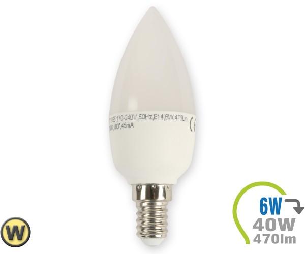 E14 LED Kerze 6W Warmweiß