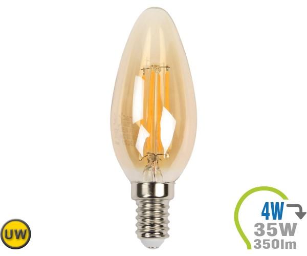 E14 LED Kerze 4W Filament Ultra-Warmweiß