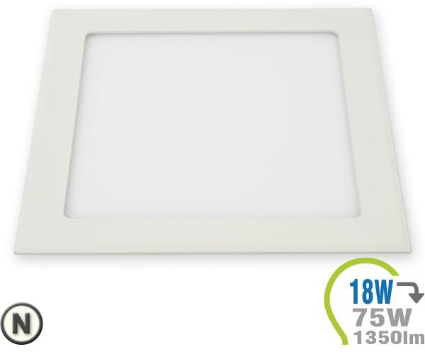 LED Paneel Einbauleuchte Premium Serie 18W Eckig Neutralweiß