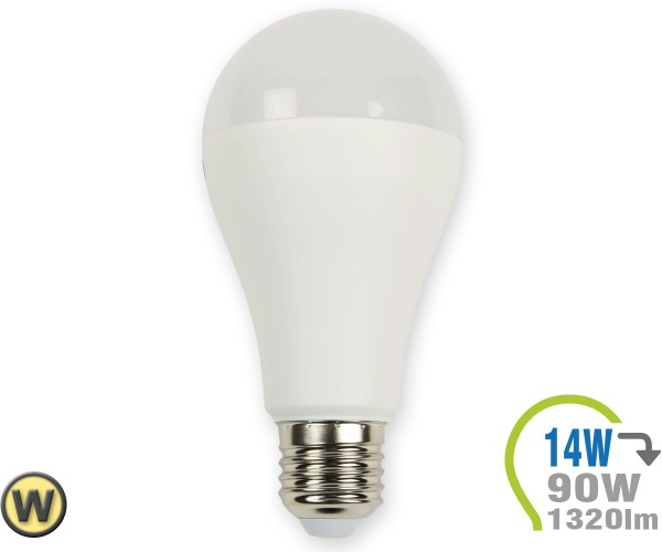 E27 LED Lampe 14W A65 Warmweiß