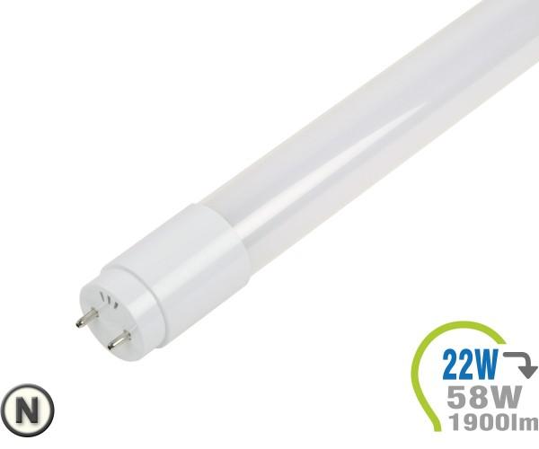T8 LED Röhre 22W 150cm Glas Neutralweiß