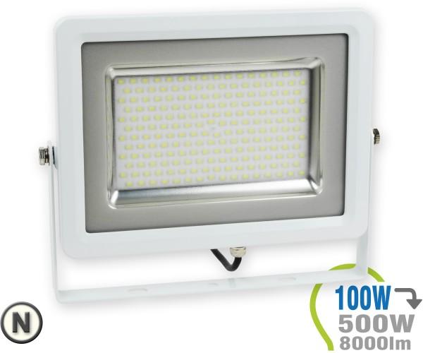 LED Strahler 100W SMD Slim Neutralweiß