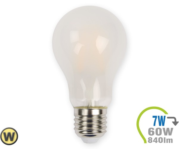 E27 LED Lampe 7W Filament matt A60 Warmweiß