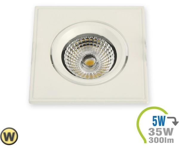 LED Einbauleuchte 5W Eckig verstellbar Weiß Warmweiß
