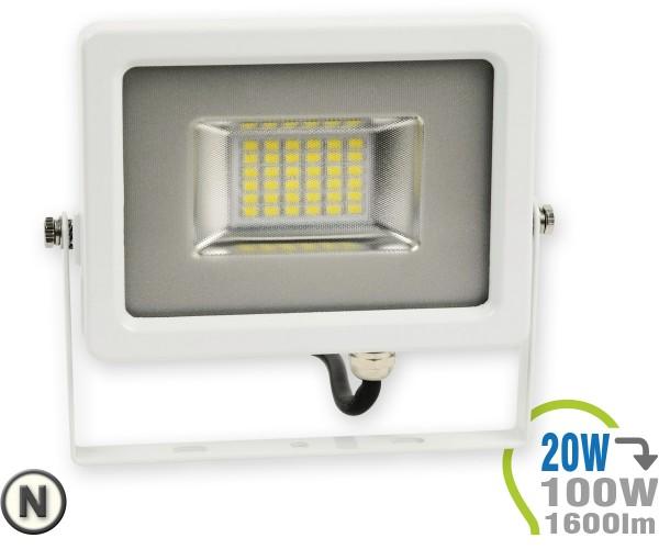 LED Strahler 20W SMD Slim Neutralweiß