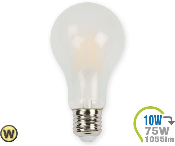 E27 LED Lampe 10W Filament matt A67 Warmweiß