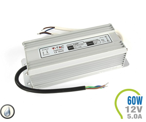LED Netzteil 60W 12V 5A Metall IP65