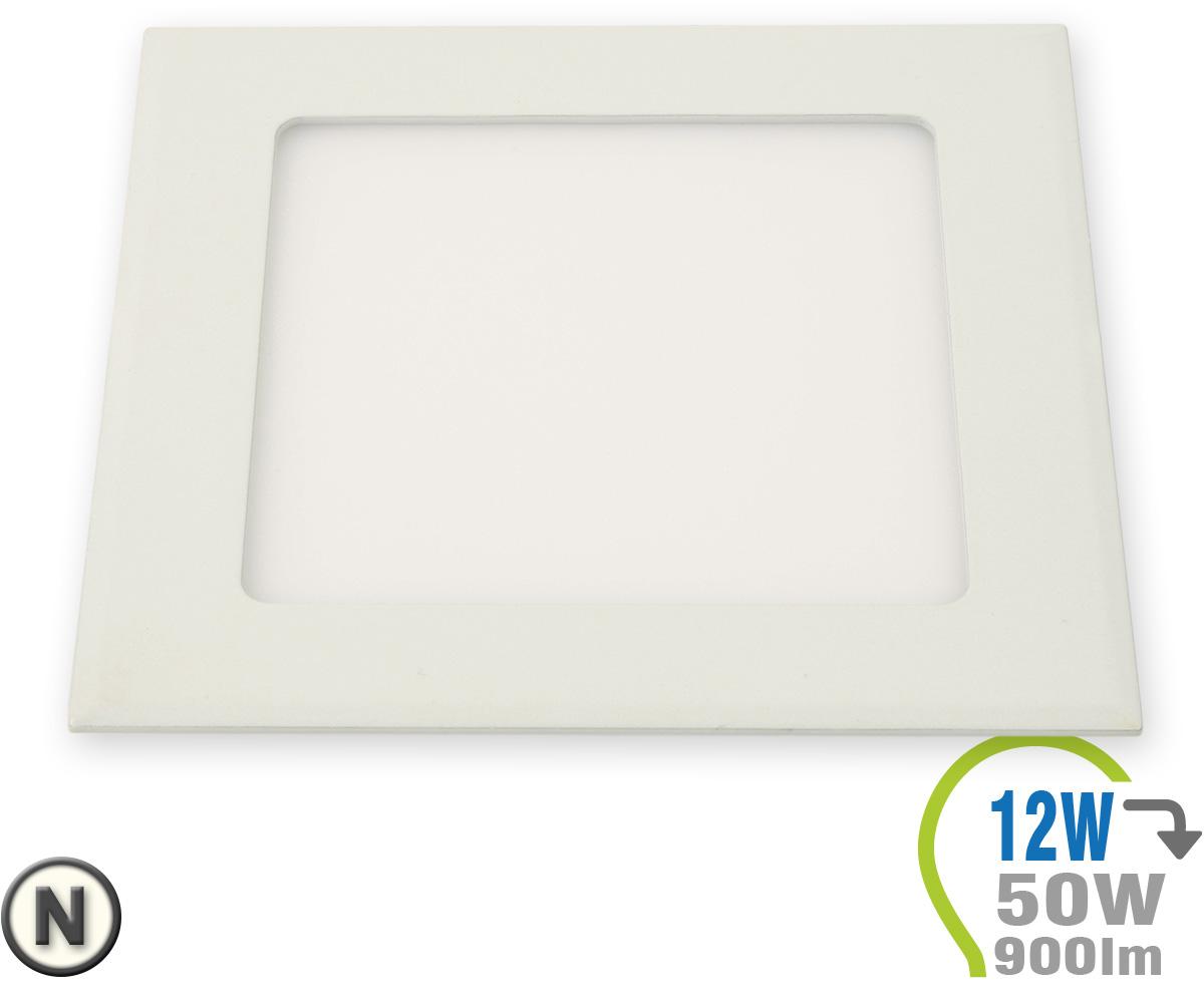 Led paneel einbauleuchte premium serie 12w eckig for Lampen leuchten shop