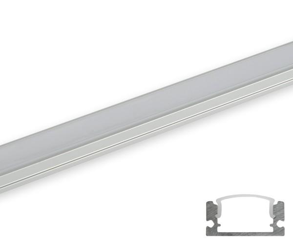 Aluminum Profil schmal flach gerundete Abdeckung matt