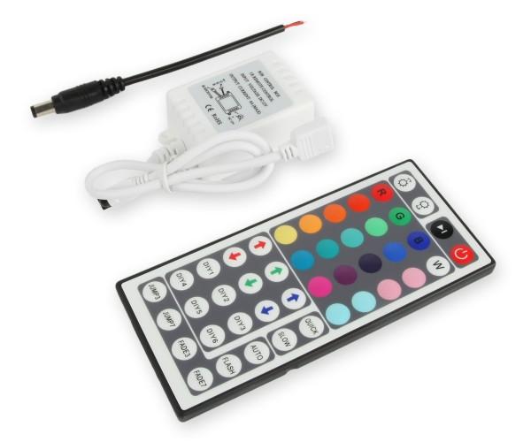 LED RGB Controller 3x2A mit Infrarot Fernbedienung 44 Tasten