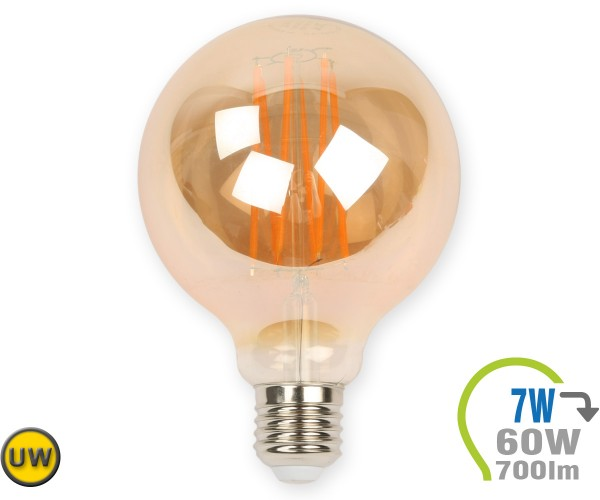 E27 LED Globe 7W Vintage Filament G95 Ultra-Warmweiß