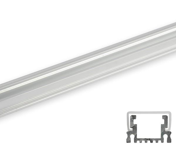 Aluminum Profil schmal umlaufende Abdeckung transparent