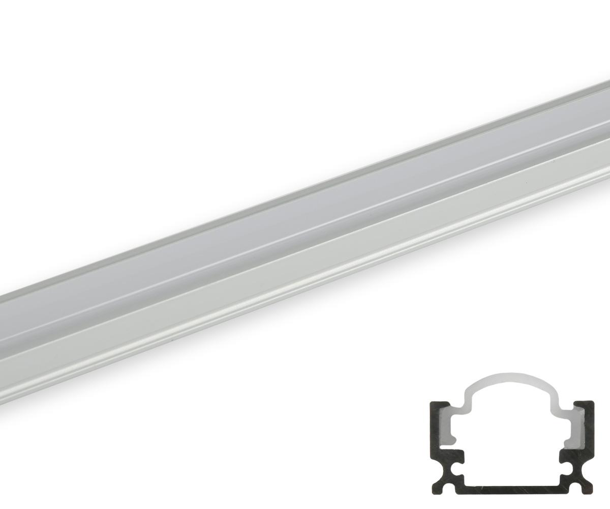 Aluminum profil schmal runde abdeckung matt profile for Lampen leuchten shop
