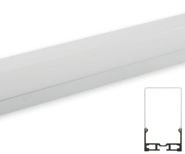 Aluminum Profil hängend mit 2 Seilen Abdeckung matt