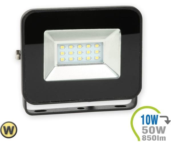 LED Strahler 10W SMD Slim Schwarz Warmweiß