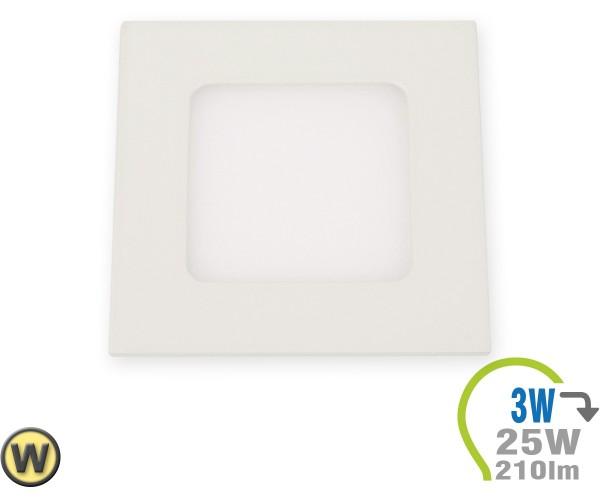 LED Paneel Einbauleuchte Premium Serie 3W Eckig Warmweiß