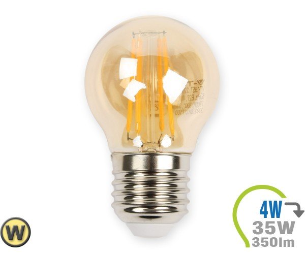 E27 LED Lampe 4W Filament G45 Ultra-Warmweiß