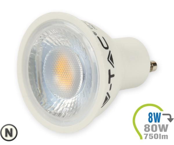 GU10 LED Lampe 8W Spot mit Linse Neutralweiß