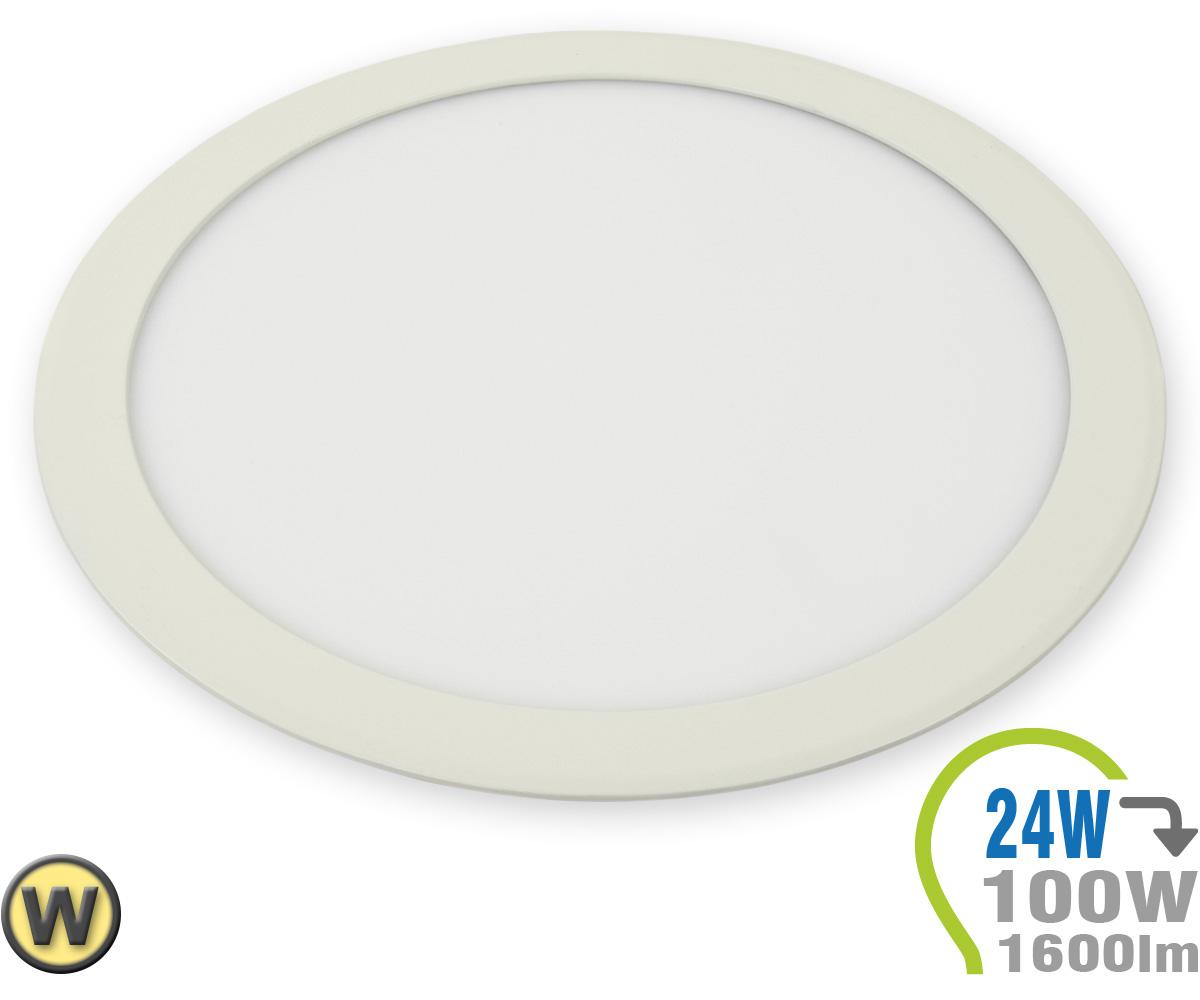 Led paneel einbauleuchte premium serie 24w rund warmwei for Lampen leuchten shop