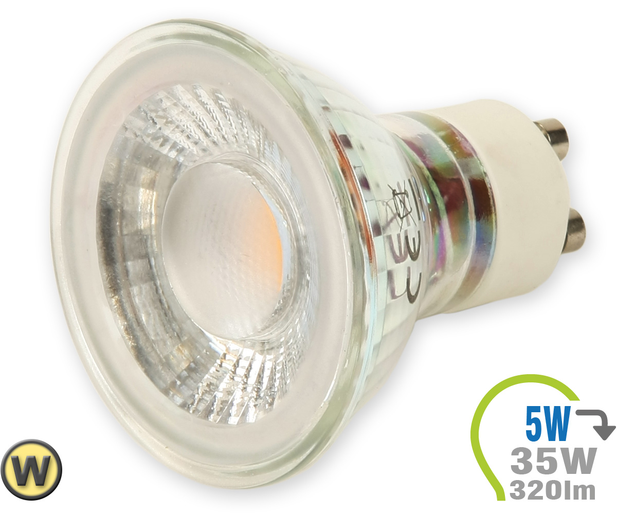 Gu10 led lampe 5w spot glas mit linse warmwei gu10 for Led lampen shop