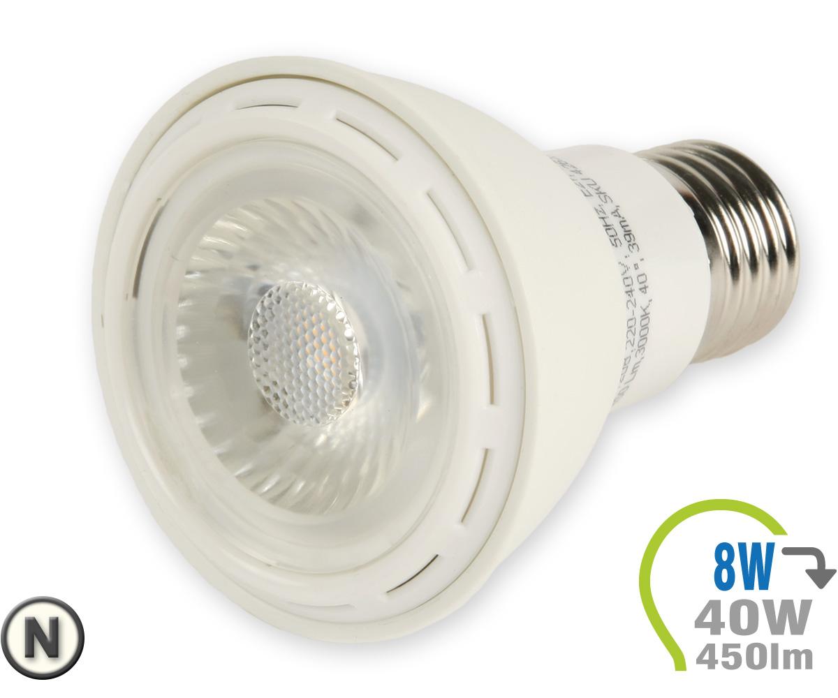 e27 led lampe 8w spot par20 neutralwei e27 led leuchtmittel led lampen leuchten shop. Black Bedroom Furniture Sets. Home Design Ideas