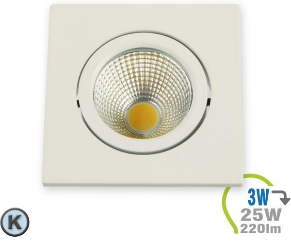 LED Einbauleuchte 3W Eckig verstellbar Kaltweiß