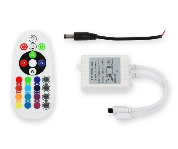 LED RGB Controller 3x2A mit Infrarot Fernbedienung 24 Tasten