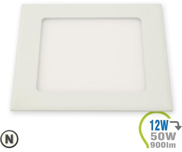 LED Paneel Einbauleuchte Premium Serie 12W Eckig Neutralweiß