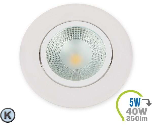 LED Einbauleuchte 5W Rund verstellbar Kaltweiß