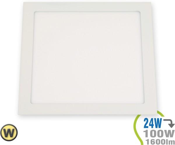 LED Paneel Einbauleuchte Premium Serie 24W Eckig Warmweiß