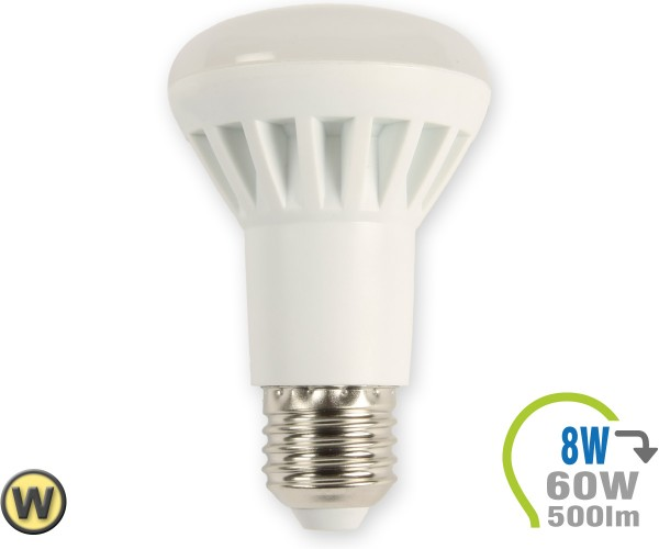 E27 LED Lampe 8W Spot R63 Warmweiß