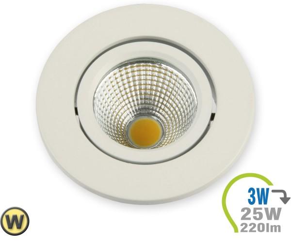 LED Einbauleuchte 3W Rund verstellbar Warmweiß