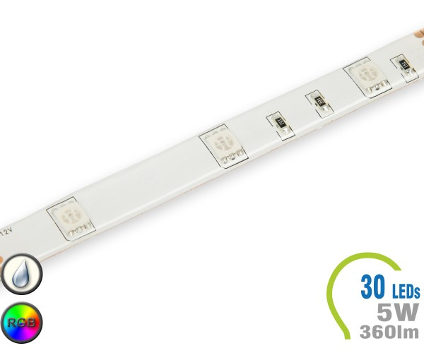 LED Stripe 30 LED/m 360 lm/m RGB IP65