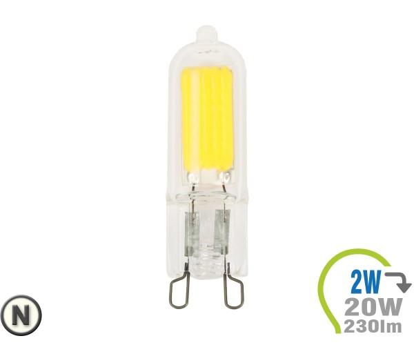 G9 LED Lampe 230V 2W Glas Neutralweiß