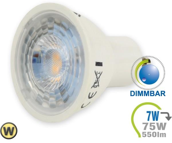 GU10 LED Lampe 7W Spot Mit Linse Warmweiß Dimmbar