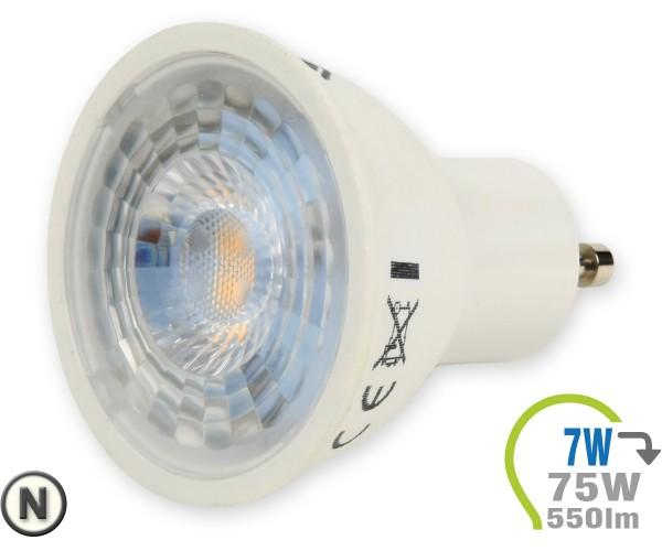 GU10 LED Lampe 7W Spot mit Linse Neutralweiß